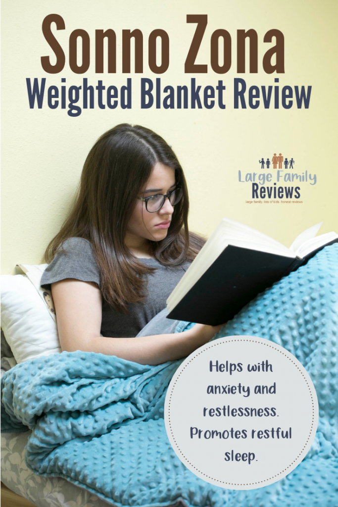 The Sonno Zona weighted blanket helps with anxiety and restlessness.