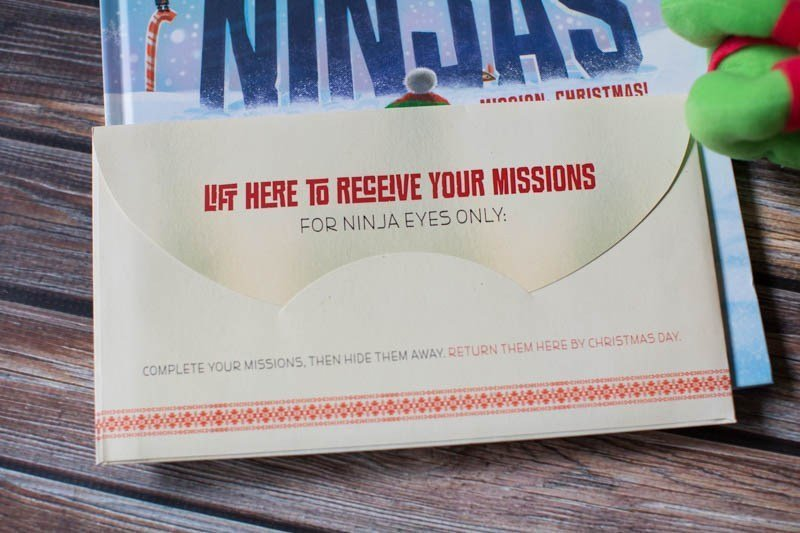 North Pole Ninja Review: This book set comes with fun secret missions for kids.